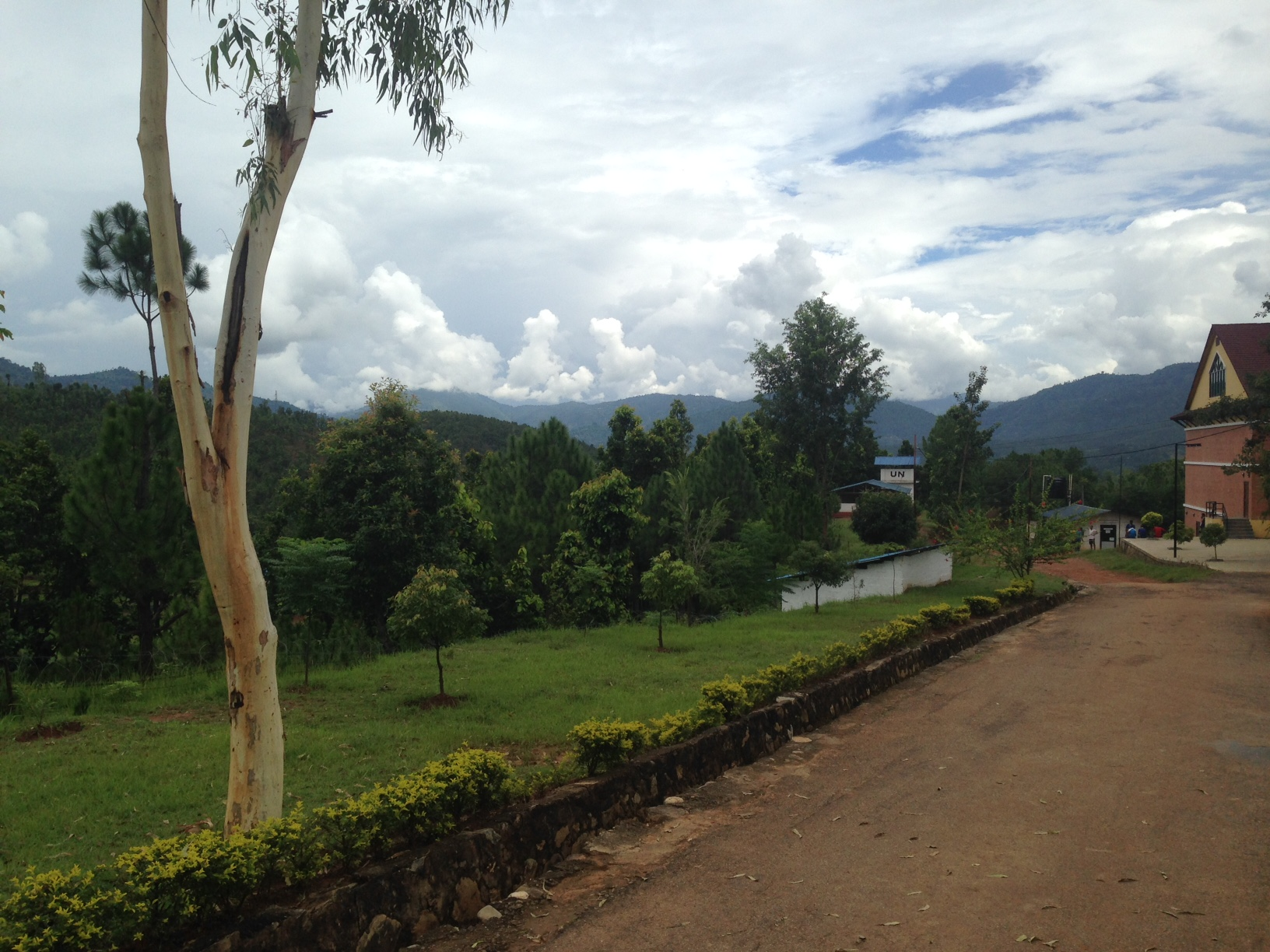 The view at the Nepali Trg Centre